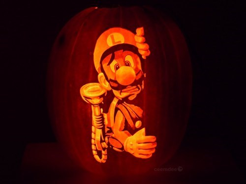 art,halloween,video games,win,pumpkins,pumpkin carvings,pumpkin art