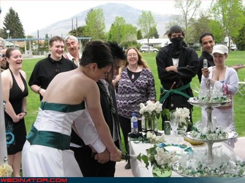 Ninja wedding crasher?