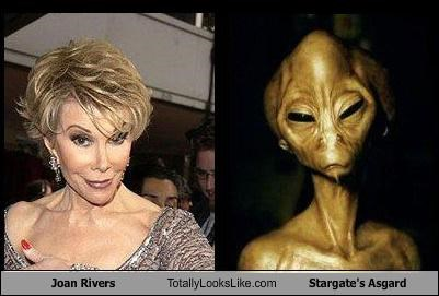 Joan Rivers Totally Looks Like Stargate's Asgard