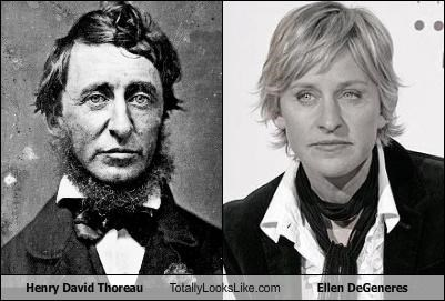 Henry David Thoreau Totally Looks Like Ellen DeGeneres