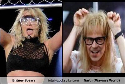 Britney Spears Totally Looks Like Garth (Wayne's World)