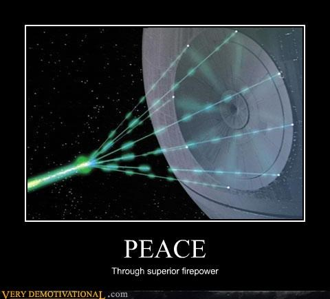 The Deathstar Screams of Peace