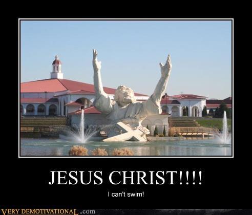 jesus,desert,swim,drowning