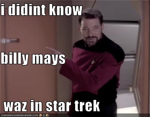i didint know  billy mays  waz in star trek