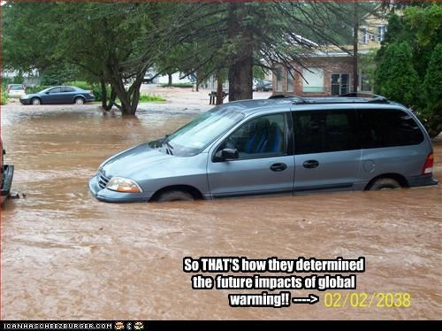 So THAT'S how they determined the  future impacts of global warming!!  ---->