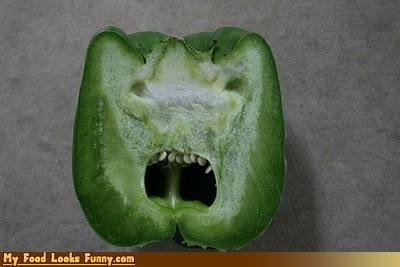 angry,bell pepper,bitter,fruits-veggies,green pepper,pepper
