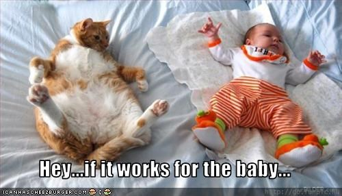 Hey...if it works for the baby...