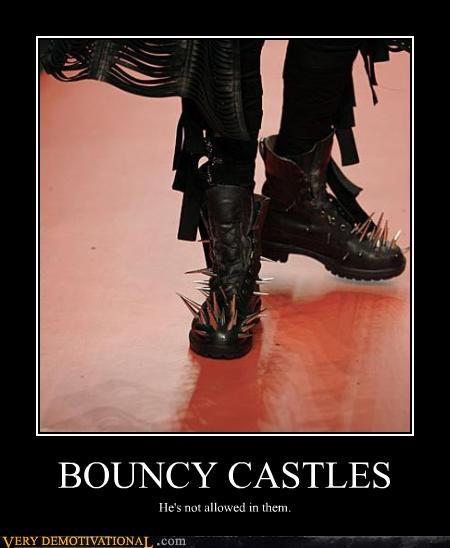 But He Loves Bouncy Castles