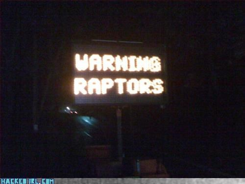 Warning Raptors