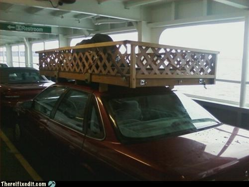 car,lattice,luggage rack,not street legal
