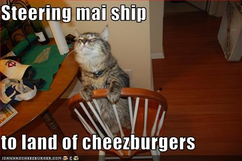 Steering mai ship  to land of cheezburgers