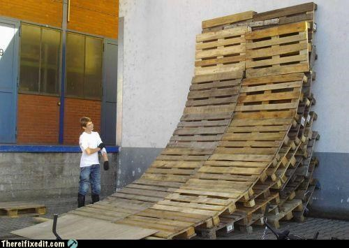 childhood,pallet,ramp,unsafe