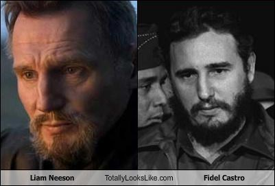 actor,beards,communist,Fidel Castro,liam neeson,politician