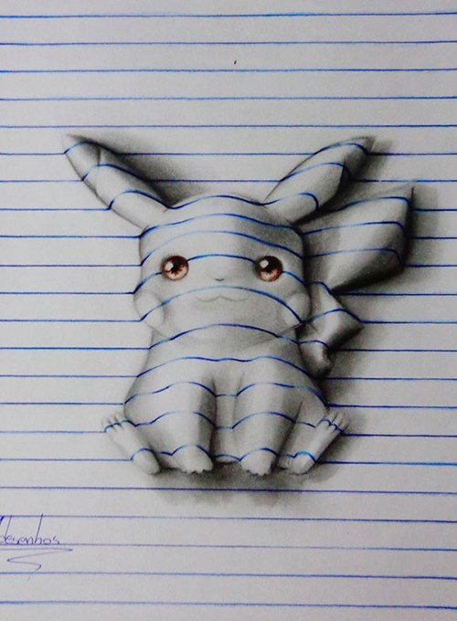 Pop Art of the Day: Young Artist Turns 2D Sketches Into 3D Images