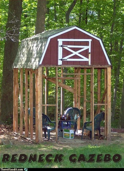 chair,gazebo,Mission Improbable,not intended use,shed