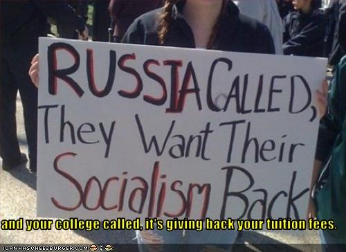 barack obama,communism,gay marriage,marriage,Protest,protesters,russia,signs,socialism,teabaggers,traditional marriage