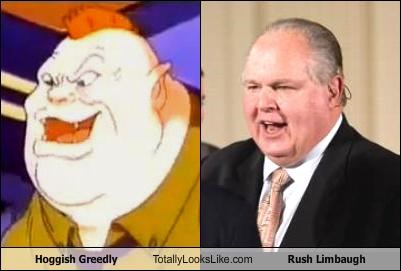 Hoggish Greedly Totally Looks Like Rush Limbaugh