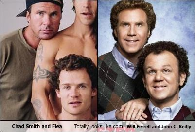 chad smith,flea,john c reilly,movies,musician,stepbrothers,the red hot chili peppers,Will Ferrell