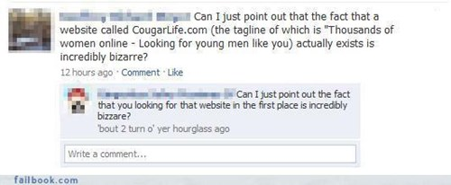 cougars,Overshare,sexy time,the internets