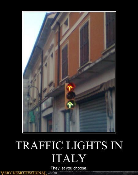cars,choices,demotivational,europe,hilarious,Italy,traffic