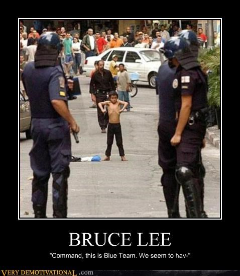 bruce lee,kids,Pure Awesome,riot police