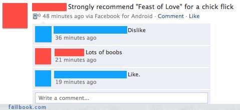 boobs,chick flicks,great idea,movies,win