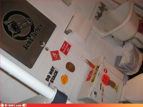 art,bar,bathroom,Bombs Away,clever,creativity in the workplace,drunk,euphmisms,gnarrrr,graffiti,gross,joke ha ha,mess,numb,official sign,osha,sass,signage,stickers,Terrifying,toilet graffiti