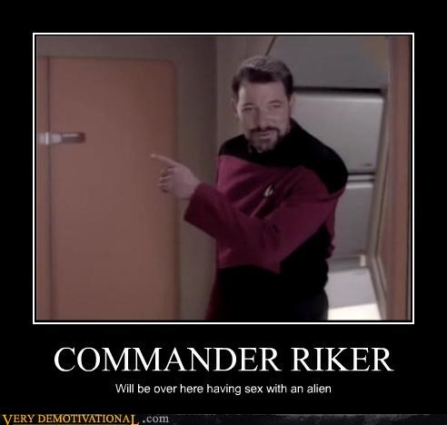 Commander Riker's a Busy Man