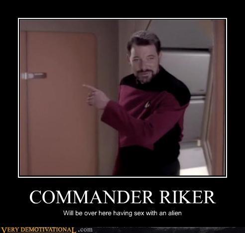 Commander Riker's a Busy Man