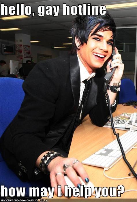 hello, gay hotline how may i help you? - Cheezburger