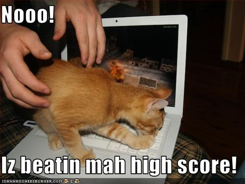 Nooo!  Iz beatin mah high score!