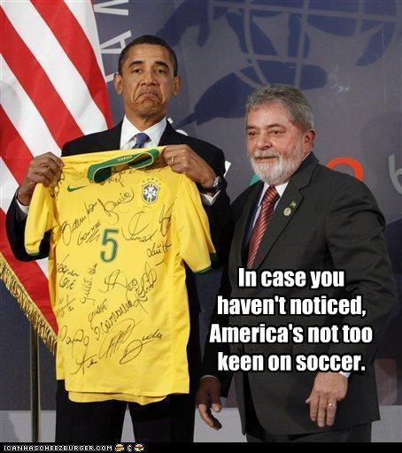 barack obama,brazil,frown,g8,Italy,Luiz Inacio Lula da Silva,president,soccer,sports