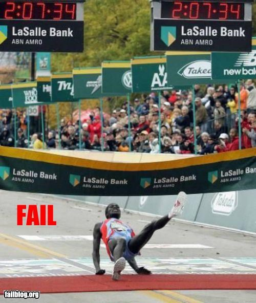Finish Line Fail