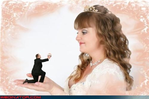 bride,crazy groom,fashion is my passion,funny wedding photos,giant bride,marriage proposal,photoshop,photoshopped wedding picture,surprise,technical difficulties,tiny groom,were-in-love,weird photoshopped wedding picture,wtf