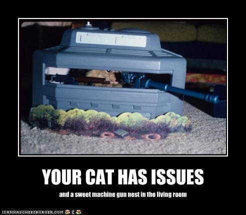 YOUR CAT HAS ISSUES