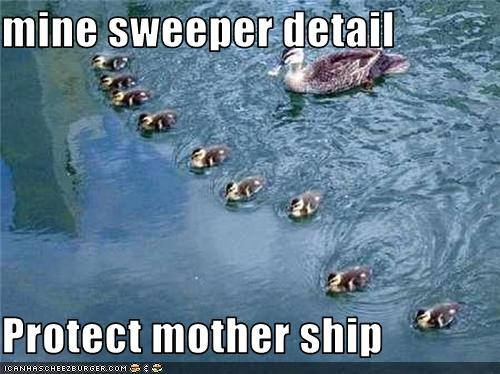 mine sweeper detail  Protect mother ship