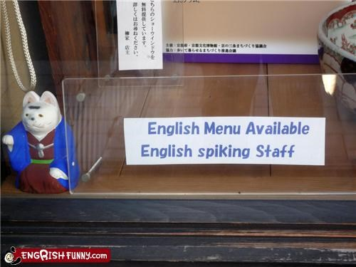 English spiking staff