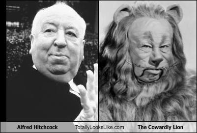 Alfred Hitchcock Totally Looks Like The Cowardly Lion