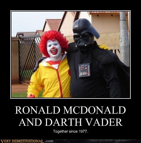 Ronald McDonald,star wars,hell,sith,darth vader