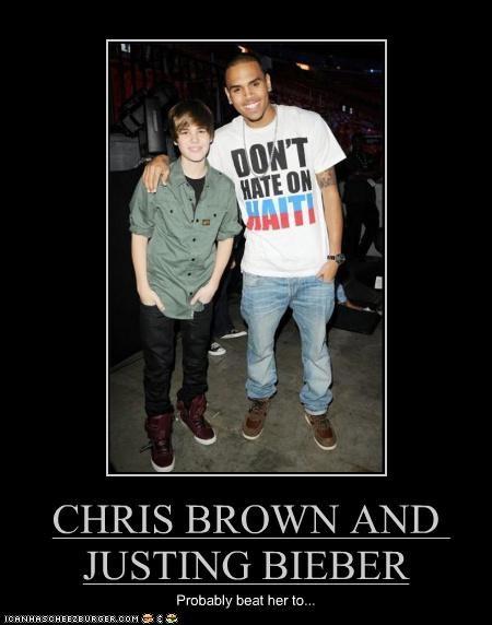 CHRIS BROWN AND JUSTING BIEBER