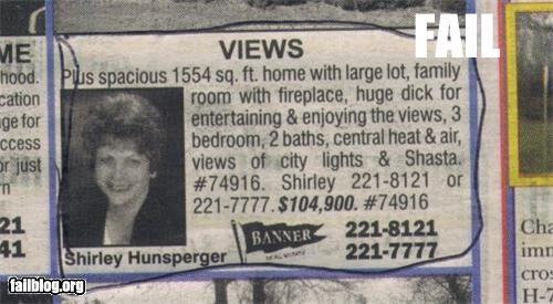 Ad,deck,failboat,home,real estate,typo