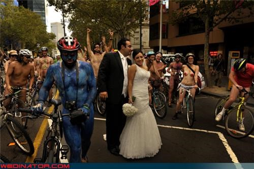 I Understand the Nude Bikers, But What Is Up With The Avatar Dude?