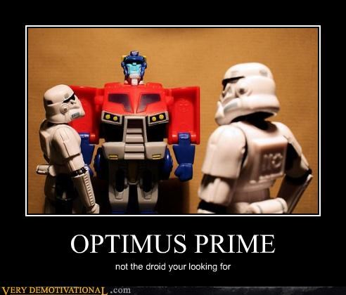 Optimus Isn't Even a Droid, He's a Truck!