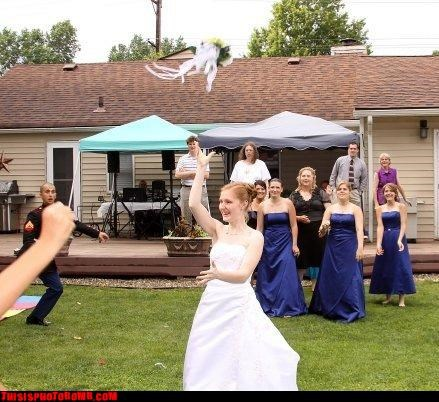 Marines Need Not Try To Catch The Bouquet