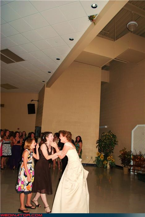 Look at the Ceiling: Epic Bouquet Toss Win!!!