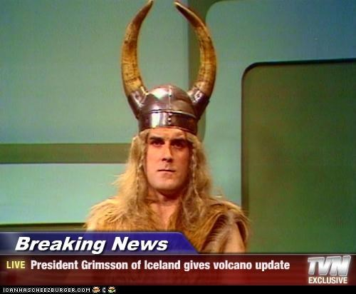Breaking News - President Grimsson of Iceland gives volcano update
