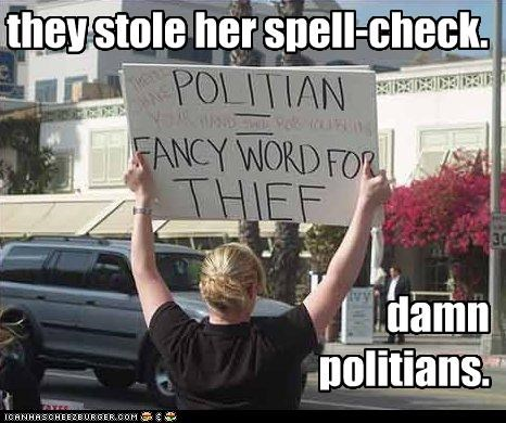 misspelling,protester,signs,teabaggers