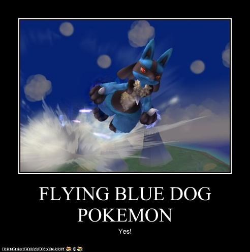 FLYING BLUE DOG POKEMON