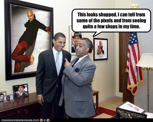 al sharpton,barack obama,fake,funny,lolz,shoop
