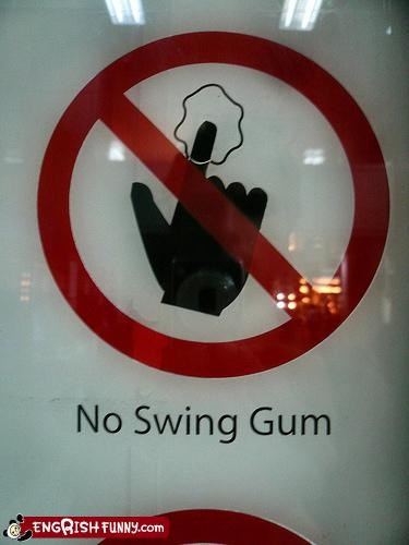 no swing gum